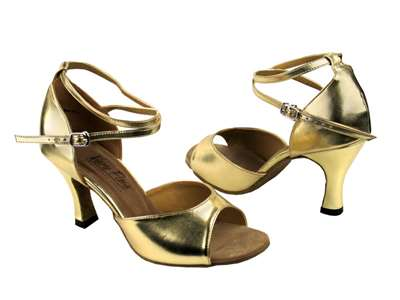 Style 6012 Gold Leather - Women's Dance Shoes | Blue Moon Ballroom Dance Supply