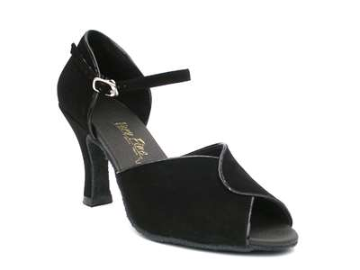 Style 6028 Black Nubuck & Black Trim - Women's Dance Shoes | Blue Moon Ballroom Dance Supply