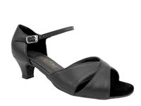Style 6029 Black Leather Cuban Heel