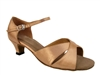 Style 6029 Brown Satin Cuban Heel - Women's Dance Shoes | Blue Moon Ballroom Dance Supply