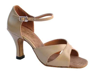 Style 6029 Tan Leather - Women's Dance Shoes | Blue Moon Ballroom Dance Supply