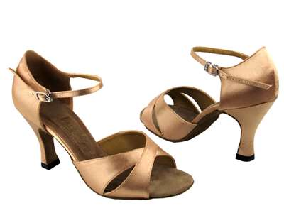 Style 6029 Brown Satin - Women's Dance Shoes | Blue Moon Ballroom Dance Supply