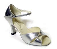 Style 6029 Silver Leather - Women's Dance Shoes | Blue Moon Ballroom Dance Supply