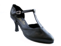 Style 6819 Black Leather - Ladies Dance Shoes | Blue Moon Ballroom Dance Supply