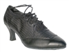 Style 6823 Black Perforated Leather - Ladies Dance Shoes | Blue Moon Ballroom Dance Supply