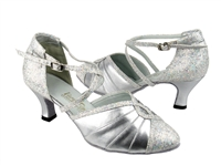 Style 6825B Silver Leather & Silver Scale