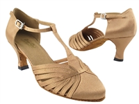 Style 6829 Brown Satin - Ladies Dance Shoes | Blue Moon Ballroom Dance Supply