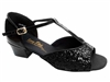 Style 801 Black Sparkle Cuban Heel - Women's Dance Shoes | Blue Moon Ballroom Dance Supply