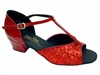 Style 801 Red Sparkle Cuban Heel - Women's Dance Shoes | Blue Moon Ballroom Dance Supply