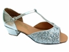 Style 801 Silver Sparkle Cuban Heel - Women's Dance Shoes | Blue Moon Ballroom Dance Supply