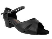 Style 803 Black Leather Cuban Heel