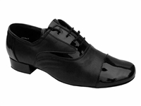 Style 916102 Black Patent & Black Leather - Women's Dance Shoes | Blue Moon Ballroom Dance Supply