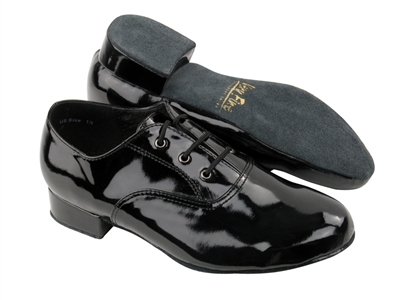 Style 919101B Black Patent - Boys Dance Shoes | Blue Moon Ballroom Dance Supply