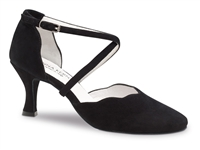 Style AK 596-60 Black Suede - Anna Kern Dance Shoes | Blue Moon Ballroom Dance Supply