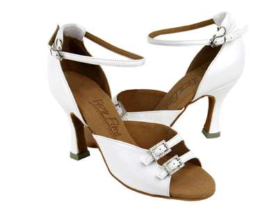 Style C1620 White Leather - Ladies Dance Shoes | Blue Moon Ballroom Dance Supply