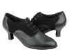 Style C1688 Black Nubuck & Black Leather - Ladies Dance Shoes | Blue Moon Ballroom Dance Supply