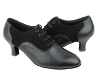 Style C1688 Black Nubuck & Black Leather