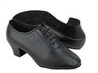 Style C2001 Black Perforated Leather Cuban Heel | Blue Moon Ballroom Dance Supply
