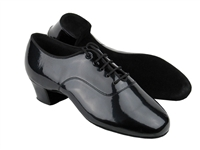 Style C2301 Black Patent Latin Heel - Men's Dance Shoes | Blue Moon Ballroom Dance Supply