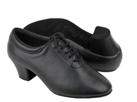 Style C2601a Black Leather Cuban Heel - Dancewear on Sale | Blue Moon Ballroom Dance Supply