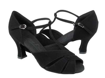 Style C6006 Black Nubuck - Ladies Dance Shoes | Blue Moon Ballroom Dance Supply