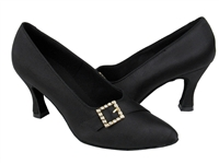 Style C6904 Black Satin - Ladies Dance Shoes | Blue Moon Ballroom Dance Supply