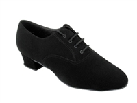 Style 915108 Black Nubuck Latin Heel - Men's  Dance Shoes | Blue Moon Ballroom Dance Supply