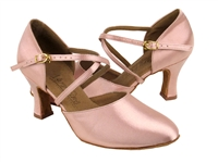 Style C9691 Flesh Satin - Ladies Dance Shoes | Blue Moon Ballroom Dance Supply