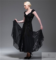 Style LBD Elise Long Dress - Women's Dancewear | Blue Moon Ballroom Dance Supply