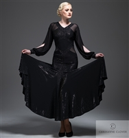 Style LBD Scarlett Long Dress - Women's Dancewear | Blue Moon Ballroom Dance Supply