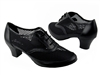 Style CD1108 Black Leather Cuban Heel - Ladies Dance Shoes | Blue Moon Ballroom Dance Supply