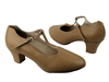Style CD1111 Beige Leather Cuban Heel - Ladies Dance Shoes | Blue Moon Ballroom Dance Supply
