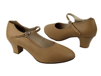 Style CD1112 Beige Leather Cuban Heel