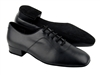 "Very Fine Competitive Dancer Men's Black Leather 1"" Heel Dance Shoe 