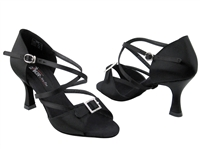 Style CD2013 Black Satin - Women's Dance Shoes | Blue Moon Ballroom Dance Supply