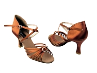 Style CD2030 Dark Tan Satin - Women's Dance Shoes | Blue Moon Ballroom Dance Supply