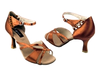 Style CD2056 Dark Tan Satin - Women's Dance Shoes | Blue Moon Ballroom Dance Supply