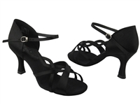 Style CD2088 Black Satin - Women's Dance Shoes | Blue Moon Ballroom Dance Supply