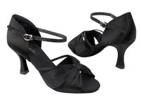 CD2150 Black Satin - Women's Dance Shoes | Blue Moon Ballroom Dance Supply