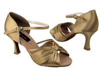CD2150 Tan Satin - Women's Dance Shoes | Blue Moon Ballroom Dance Supply