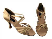 CD2151 Tan Satin - Women's Dance Shoes | Blue Moon Ballroom Dance Supply
