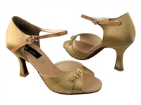 CD2158 Tan Satin - Women's Dance Shoes | Blue Moon Ballroom Dance Supply
