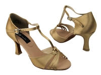 CD2165 Tan Satin - Women's Dance Shoes | Blue Moon Ballroom Dance Supply