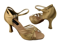 CD2166 Tan Satin - Women's Dance Shoes | Blue Moon Ballroom Dance Supply