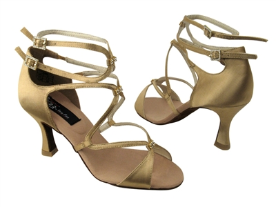 CD2175 Tan Satin - Women's Dance Shoes | Blue Moon Ballroom Dance Supply