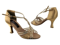 CD2801 Tan Satin - Women's Dance Shoes | Blue Moon Ballroom Dance Supply