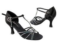 CD2802 Black Satin - Women's Dance Shoes | Blue Moon Ballroom Dance Supply