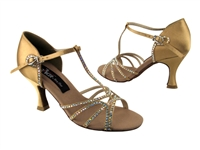 CD2802 Tan Satin - Women's Dance Shoes | Blue Moon Ballroom Dance Supply