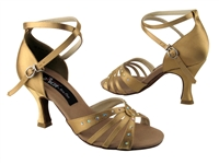 CD2808 Tan Satin - Women's Dance Shoes | Blue Moon Ballroom Dance Supply