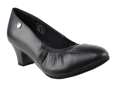 Style CD5013DB Black Leather - Ladies Dance Shoes | Blue Moon Ballroom Dance Supply